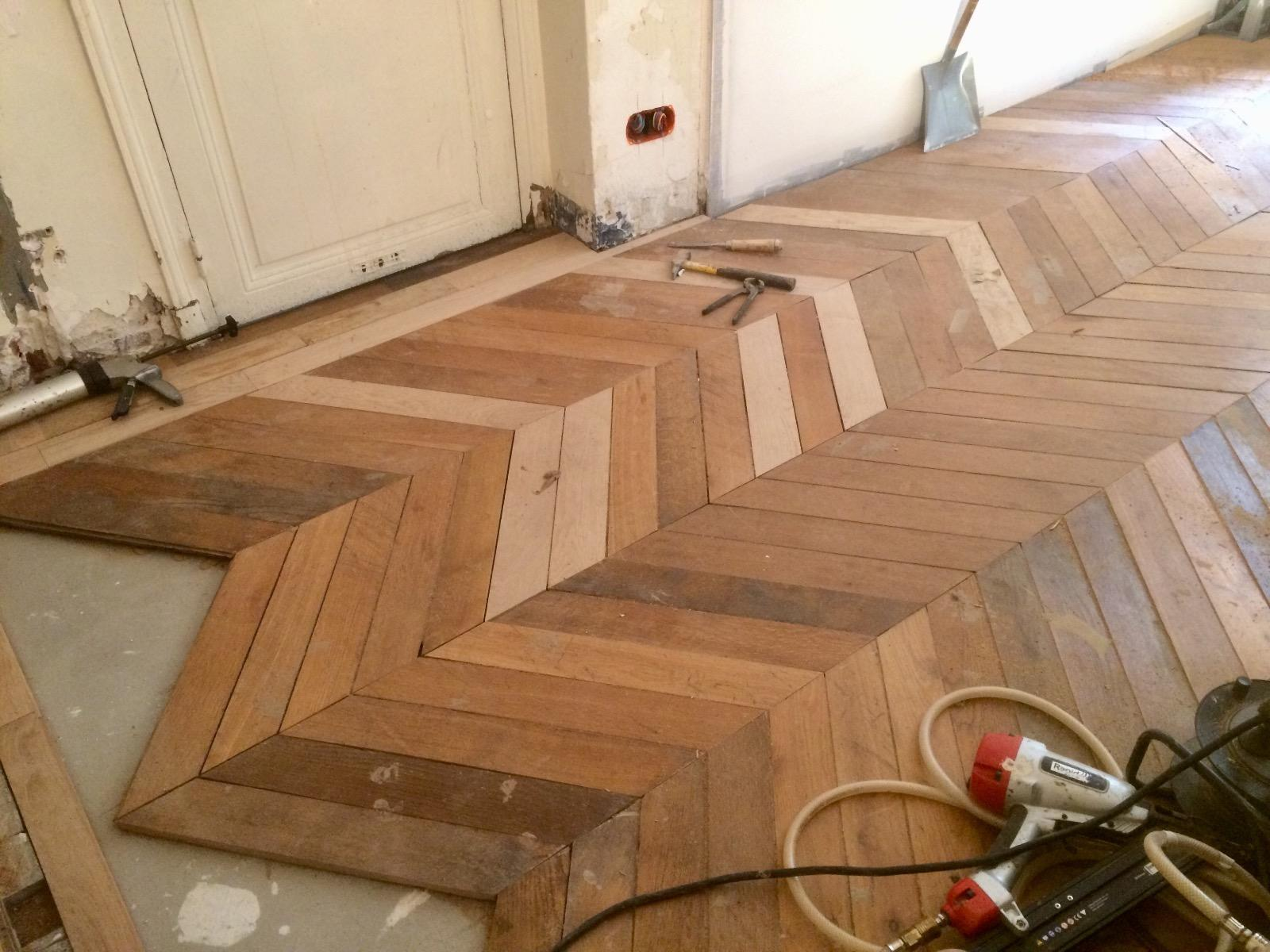 Pose de parquet – Paris 16