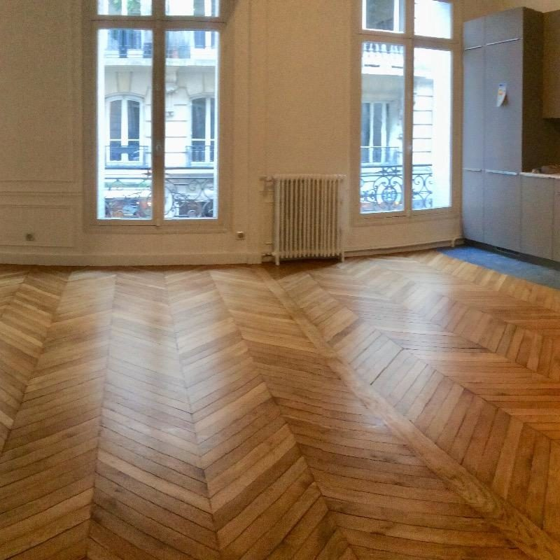 Pose de parquet massif – Paris 16